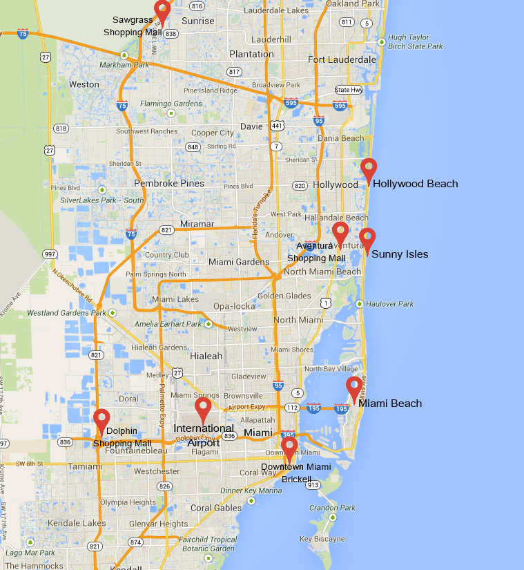 receptivo miami apartamentos - areas